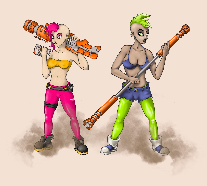 Jelly e Kelly Illustrazione Ferro Ferruccio Carubini
