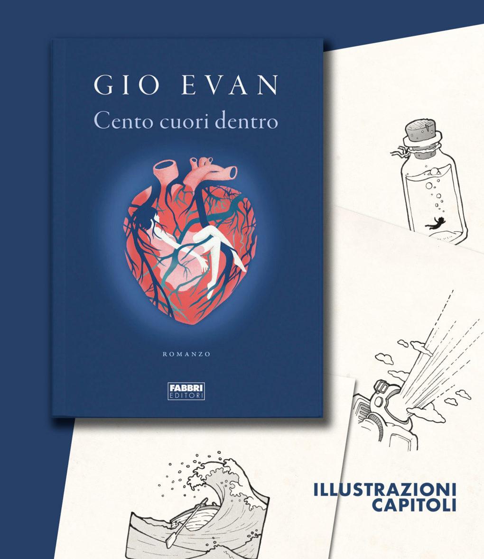 Cento cuori dentro illustrazioni del libro