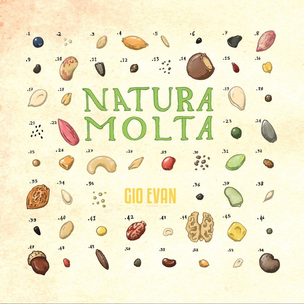 copertina dell'album Natura Molta. illustrazione di Ferruccio Carubini
